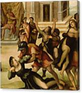 Rape Of The Sabines Canvas Print