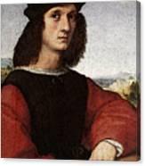 Raphael Portrait Of Agnolo Doni Canvas Print