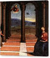 Raphael The Annunciation  Oddi Altar Predella  Canvas Print