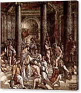Raphael The Baptism Of Constantine Canvas Print