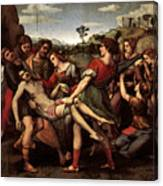 Raphael The Entombment Canvas Print