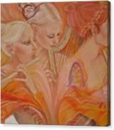 Raphsody On An Iris Canvas Print
