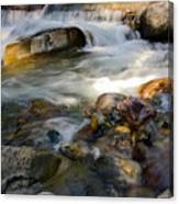 Rapids And Boulders Canvas Print