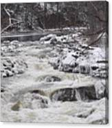 Rapids At Bull's Bridge 1 Canvas Print
