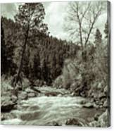 Rapids During Spring Flow On The South Platte River Canvas Print