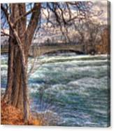 Rapids In Fall Canvas Print
