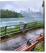 Rapids In The Rain Canvas Print