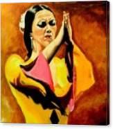 Raquel Heredia - Flamenco Dancer Sold Canvas Print