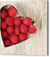 Raspberry Heart Canvas Print