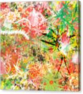 Rasta Flowers Canvas Print