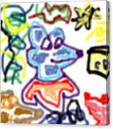 Rat Doodle Canvas Print