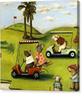 Rat Race 2  At The Golf Course Canvas Print