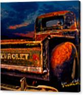 Rat Rod Chevy Truck Canvas Print