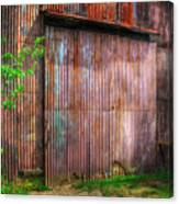 Rats Castle Farm Barn Door Canvas Print