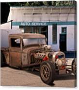 Raunchy Rat Rod Pickup Canvas Print