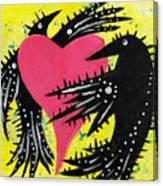 Raven Love Canvas Print