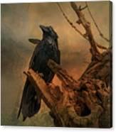 Raven Lover Canvas Print