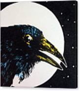 Raven Moon Canvas Print
