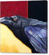 Raven Of The Tomorrow Wings Canvas Print