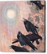 Raven Party Canvas Print
