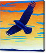 Raven Rising Canvas Print