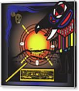 Raven Steals The Sun Canvas Print