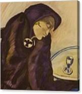 Raven - The Absinthe Drinker Canvas Print