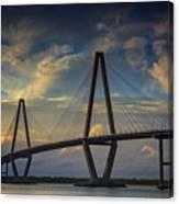 Ravenel Bridge Sunset Canvas Print