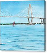 Ravenel Bridge Canvas Print