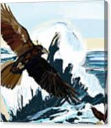 Ravens And The Stormy Sea Canvas Print