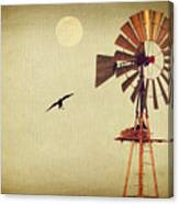 Ravens Under The Moon Canvas Print