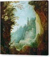 Ravine Between Rocks Canvas Print