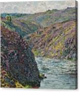 Ravines Of The Creuse At The End Of The Day Canvas Print