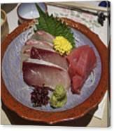 Raw Fish Sashimi Plate - Kyoto Japan Canvas Print