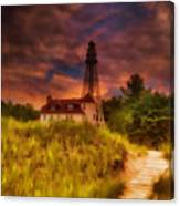Rawley Point Lighthouse Canvas Print