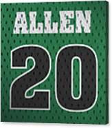 Ray Allen Boston Celtics Retro Vintage Jersey Closeup Graphic Design Canvas Print