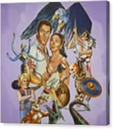 Ray Harryhausen Tribute Seventh Voyage Of Sinbad Canvas Print