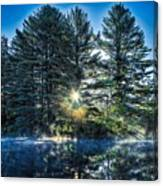 Rays Of Light On The Androscoggin River Canvas Print