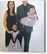 Razi And Her Family Canvas Print