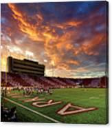 Razorback Sunset Canvas Print