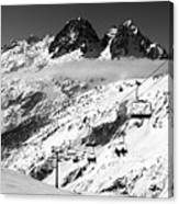 Reach The Sky Chamonix France Canvas Print