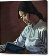 Reader Canvas Print