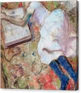 Reader Lying Down Canvas Print