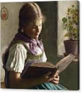Reading Girl Canvas Print