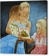 Reading With Gramma Canvas Print