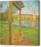 Ready to Swing at Furman, Greenville, South Carolina Canvas Print