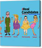 Real Candidates Of The Gop -clear Background Version 2 Canvas Print