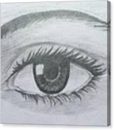 Realistic Eye Canvas Print
