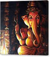 Portrait Of Lord Ganapathy Ganesha Canvas Print