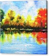 Realm Of Serene- Original Painting Canvas Print